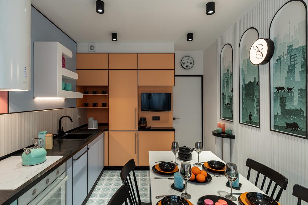 Кухня с отражениями